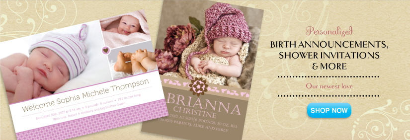 shop baby invitations