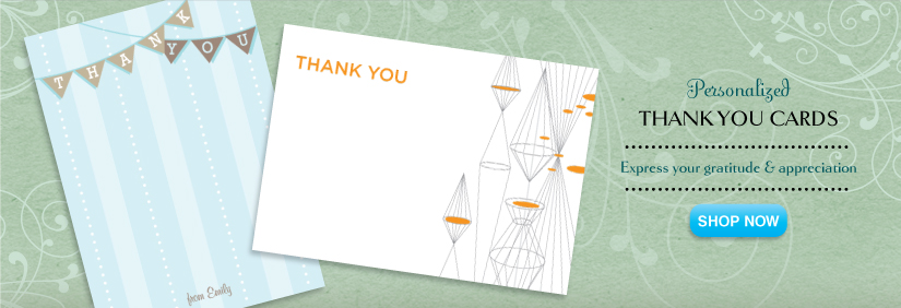 shop thank you card