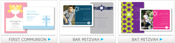 first communion cards, bar mitzvah, bat mitzvah cards