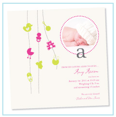 our baby girl birth announcements and invites looklovesend