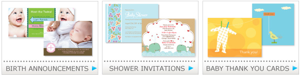 baby birth announcements, baby shower invitation, baby thank you cards