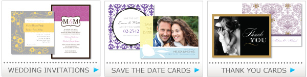 wedding invitation, save the date cards, thank you cards