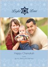 Hanukkah Cards - chanukah light and love