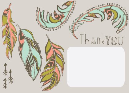 Thank You - Thank You - Tribal Feathers