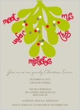 Holiday Party Invitations - mistletoe love