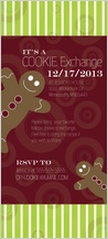 Holiday Party Invitations - holiday cookie