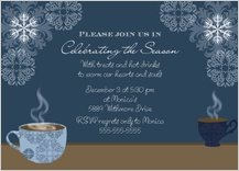 Holiday Party Invitations - hot drink holiday