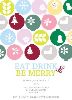 Holiday Party Invitations - Ornamental Mix
