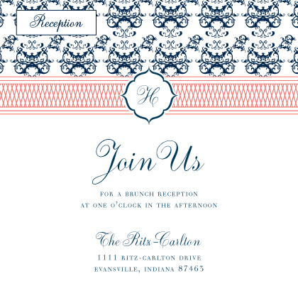 Reception Card - The Hamilton