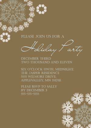 Holiday Party Invitations - Snowflake Holiday Party