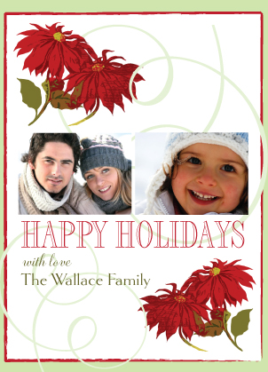 Holiday Cards - Poinsettia Time