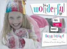 Holiday Cards - wonderful life