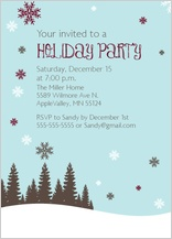 Holiday Party Invitations - let it snow holiday party