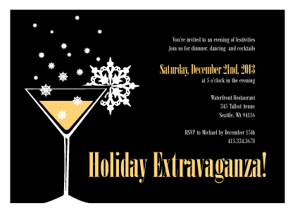 Holiday Party Invitations - Holiday Cocktail Party Invitation
