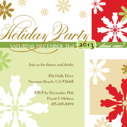 Holiday Party Invitations - Holiday Script Invitation