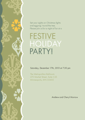 Holiday Party Invitations - Chandelier