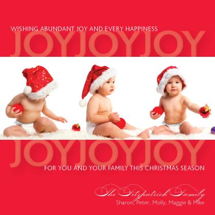 Christmas Cards - Joy Joy Joy