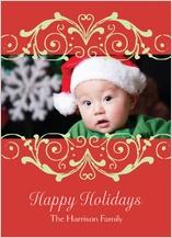 Christmas Cards - fancy scroll