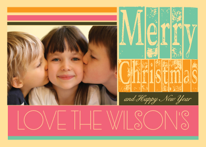 Christmas Cards - Christmas Fonts Frame