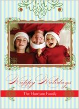Christmas Cards - festive stripes