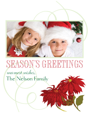 Christmas Cards - simple poinsettia