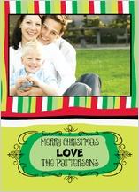 Christmas Cards - christmas stripes