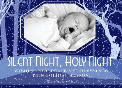 Christmas Cards - Silent Night Christmas Card