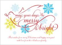 Christmas Cards - dove scroll christmas card