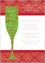 Holiday Party Invitations - holiday toast