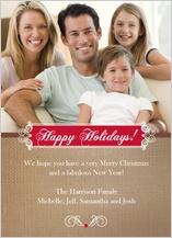 Christmas Cards - burlap holiday