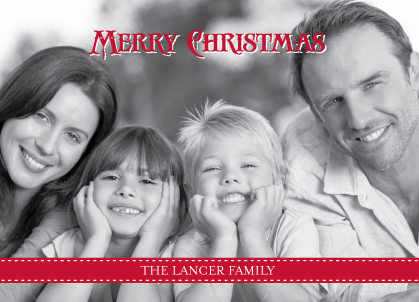 Christmas Cards - Red Ribbon