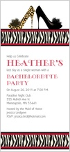 Bachelorette Party Invitation - animal print bachelorette party