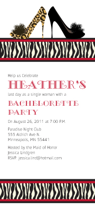 Bachelorette Party Invitation - Animal Print Bachelorette Party