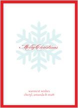 Christmas Cards - single snowflake