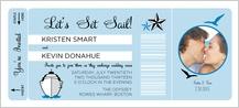 Wedding Invitation - let's set sail!
