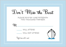 Response Card - let's set sail!