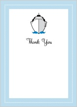 Wedding Thank You Card - let's set sail!