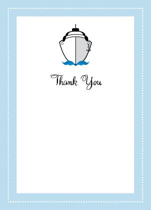 Wedding Thank You Card - Let's Set Sail!