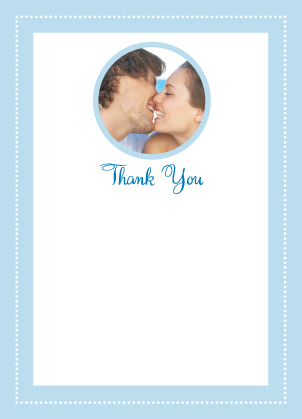 Wedding Thank You Card with photo - Let's Set Sail!