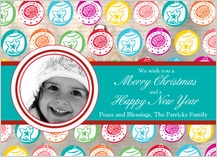 Christmas Cards - christmas ornaments pattern - classic card