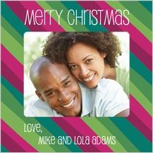 Christmas Cards - seasonal stripes