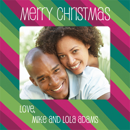 Christmas Cards - Seasonal Stripes