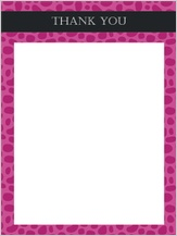 Baby Thank You Card - animal print