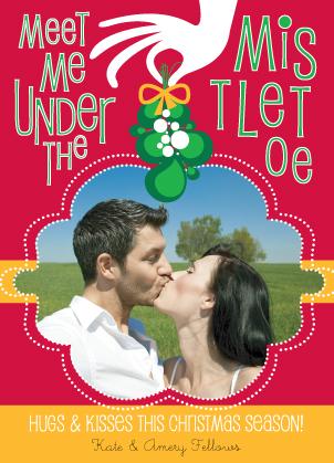 Christmas Cards - Mistletoe