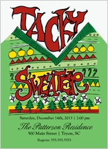 Holiday Party Invitations - tacky sweater party