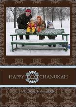 Hanukkah Cards - damask chanukah
