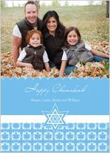 Hanukkah Cards - fancy chanukah star