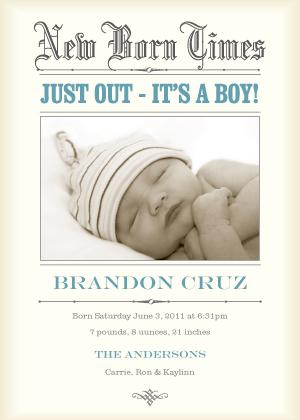 Birth Announcement - New Born Times