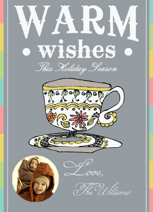 Holiday Cards - Warm Wishes Tea Cup