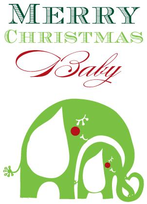 Christmas Cards - Merry Christmas Baby